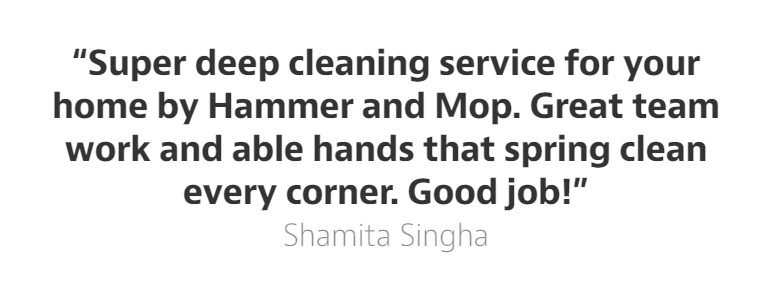 Hammer and Mop shares a super blush worthy moment when Shamita Singha asked us what paint would work best for her home.