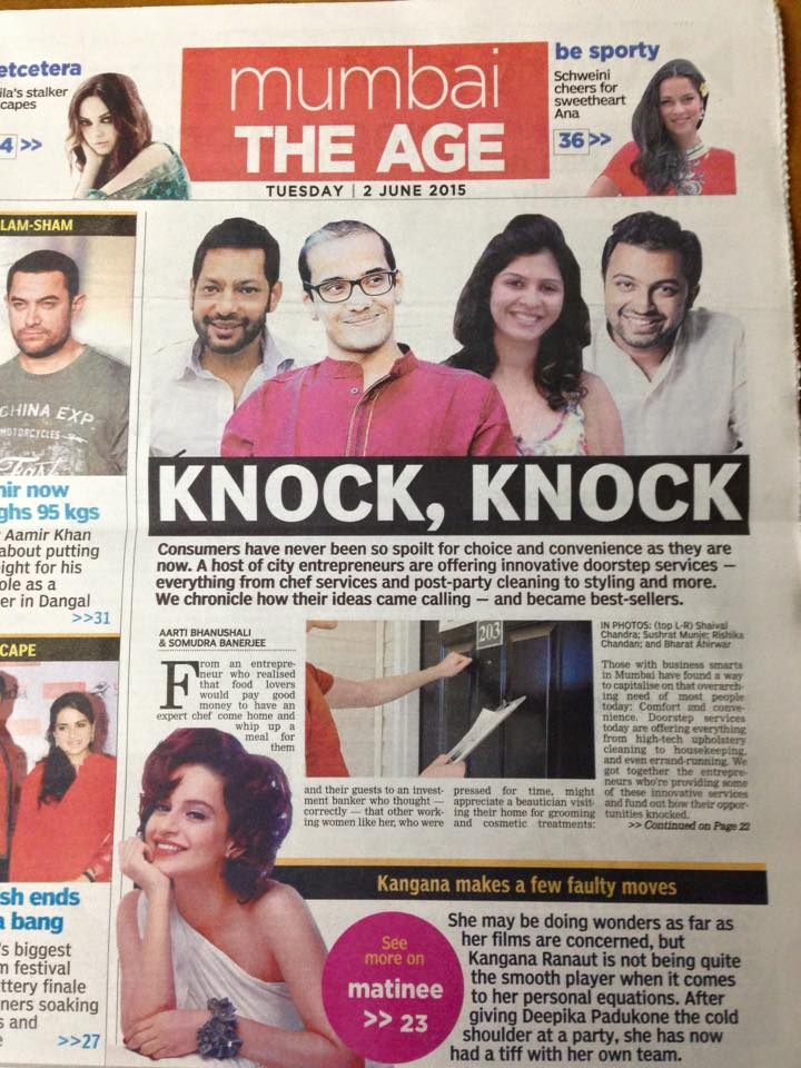 Hammer and Mop is humbled by the front page love and feature by Asian Age for the second time. We love them, and we love the journalist bunch as a whole. Yay!