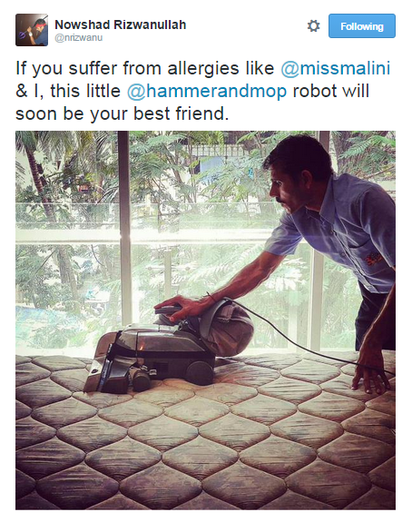 Hammer and Mop shares how we helped our favorite patrons MissMalini & Nowshad keep their home allergy & dust free through an upholstery sanitisation service.