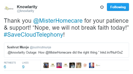 Hammer and Mop loves offering home cleaning in Mumbai, and faced a conundrum when the phone lines went down. Yet, we stood strong with Knowlarity.